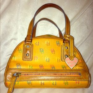 Dooney & Bourke Bowling Bag Orange adorable purse